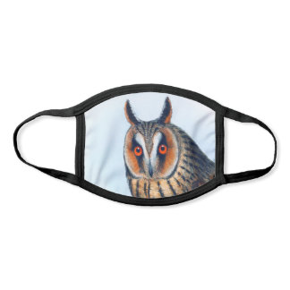 Long-Eared Owl Vintage Illustration Face Mask