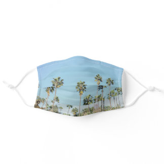 Los Angeles Palm Trees Adult Cloth Face Mask