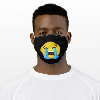 Loudy Crying Face Emoji Adult Cloth Face Mask