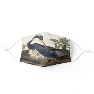 Louisiana Heron from Birds of America Adult Cloth Face Mask