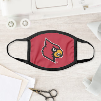 Louisville Cardinals Logo Face Mask
