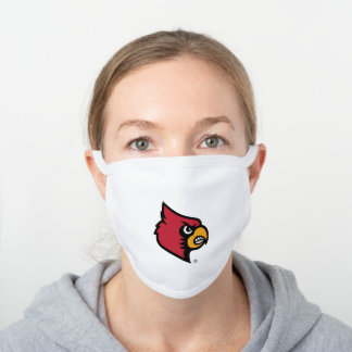 Louisville Cardinals Logo White Cotton Face Mask