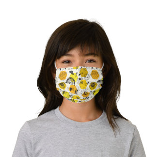 Love bees! kids' cloth face mask