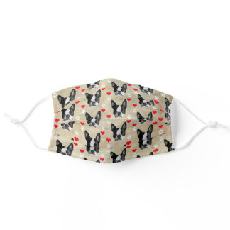 Love Boston Terrier Gifts, Dog Adult Cloth Face Mask