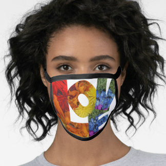 LOVE Flowers Collection All-Over Print Face Mask