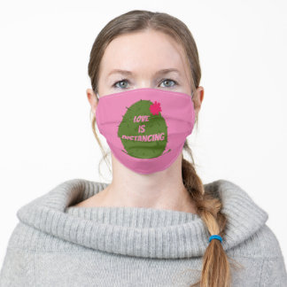 Love is Distancing Adult Cloth Face Mask