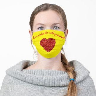 Love makes the world go around Face Mask