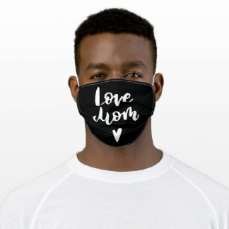 Love MOM Heart Adult Cloth Face Mask