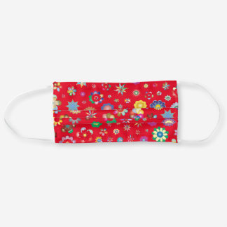 Lovely Day Scarlet Red Floral Adult Cloth Face Mask