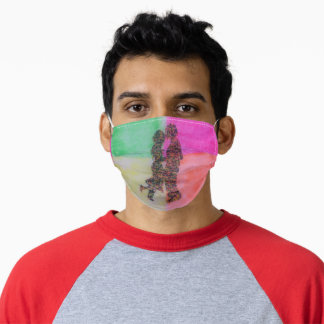 Loving couple Cloth Face Mask with Filter Slot