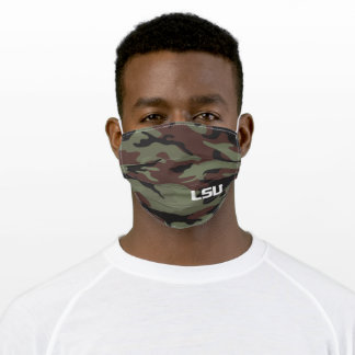 LSU Camo Pattern Adult Cloth Face Mask