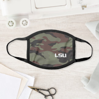 LSU Camo Pattern Face Mask