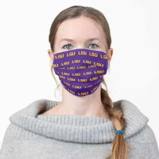 LSU Gold Logo Adult Cloth Face Mask