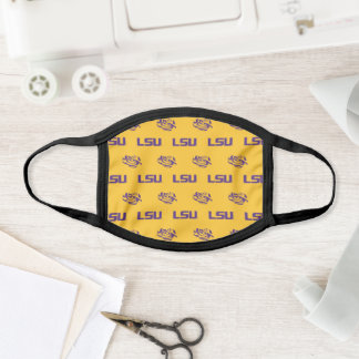 LSU Tigers Gold Pattern Face Mask
