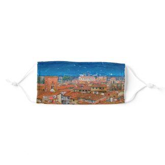 Lucca Historic Center Aerial View Adult Cloth Face Mask
