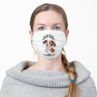 Lucky Brittany Spaniel Adult Cloth Face Mask