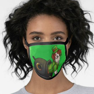 Lucky St. Patrick's Day Dog Face Mask