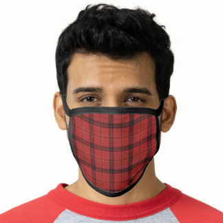 Lumberjack Buffalo Plaid Pattern Name Face Mask