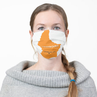 Luxembourg Map Adult Cloth Face Mask