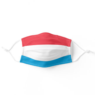 Luxembourger flag adult cloth face mask