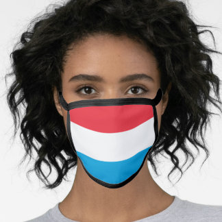Luxembourger flag face mask