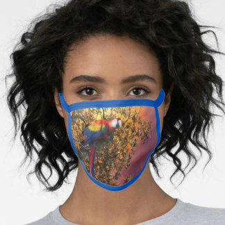 MACAW PARROT RAIN FOREST OUTPOST FACE MASK