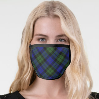 MacKay Green Clan Tartan Scottish Plaid Pattern Face Mask