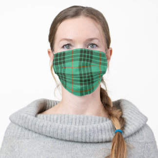 MacKay Mint Tartan Plaid Scottish Pattern Adult Cloth Face Mask