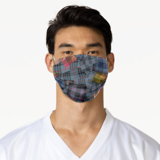 MacKay  Tartan Plaid Patchy Adult Cloth Face Mask