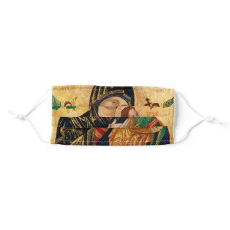 Madonna and Child Icon Face Mask Religion Soft