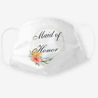 Maid of Honor  Customize Wedding Cloth Face Mask