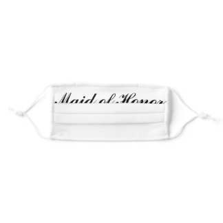 Maid of Honor Face Mask for Wedding Ceremony