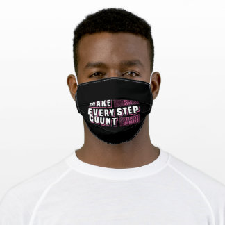 Make every step count adult cloth face mask
