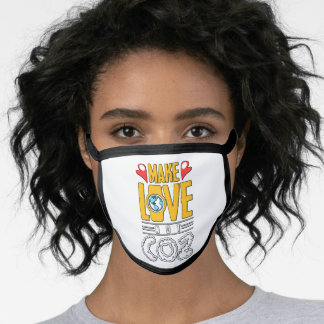 Make Love Not CO2 Climate Change Environment Face Mask