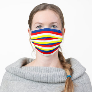 Malaysia Philippines Venezuela flag stripes Adult Cloth Face Mask