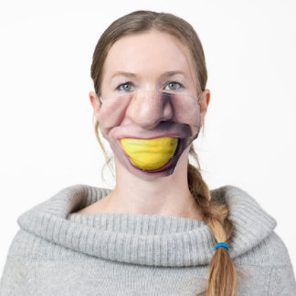 Male Mouth Eating Lemon Funny Hilarious Adult Cloth Face Mask