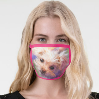Maltese Rescue Puppy Day 1 THE WEE ONE Face Mask