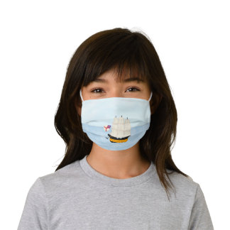 Man of War At Sea Nautical Sailing Adventure Kids' Cloth Face Mask