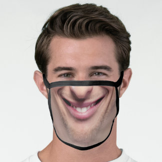 Man Smile Teeth Cute & Funny Cute & Funny Mouth Face Mask