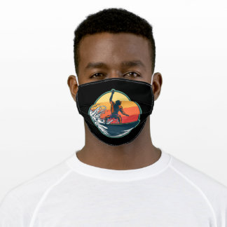 Man surfing adult cloth face mask