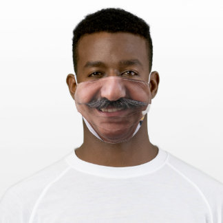 Man With Mustache Smiling Adult Cloth Face Mask