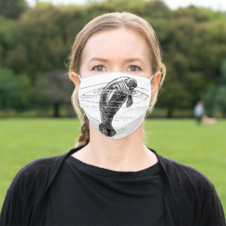 Manatee Adult Cloth Face Mask