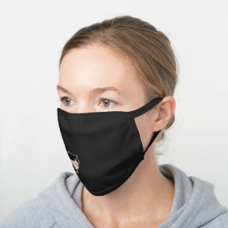 Manchy Black Cotton Face Mask
