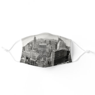 Manhattan Black & White photo printed Adult Cloth Face Mask