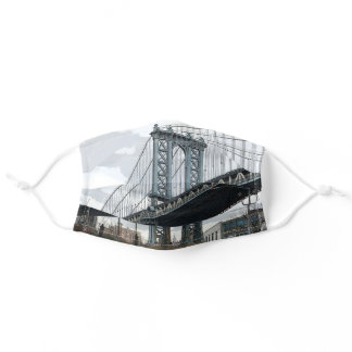 Manhattan Bridge Empire State Building New York NY Adult Cloth Face Mask