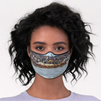 Manistee - A Small Town on Lake Michigan Premium Face Mask