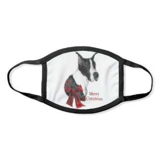 Mantle Great Dane Christmas Face Mask