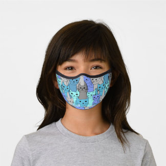 Many Blue Cats Premium Face Mask