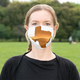 MAP OF TEXAS ADULT CLOTH FACE MASK