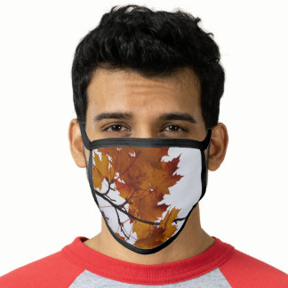 Maple Tree Branches Leaves Fall, Winter Camouflage Face Mask